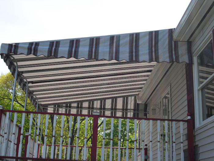 Stationary Awnings Are Made Of Galvanized Steel Tubing For Years Of  Durability.